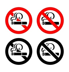 Set signs - No smoking vector image vector image