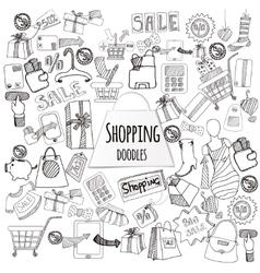 Shopping doodle set vector