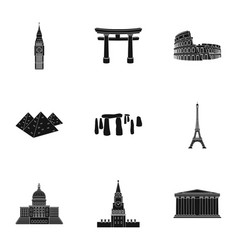 sights of the countries of the world famous vector image vector image