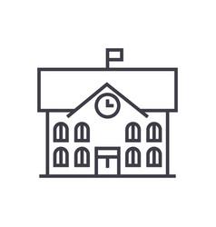 Town hallcity hall line icon sign vector