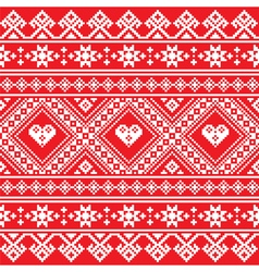 Traditional ukrainian or belarusian folk art white vector