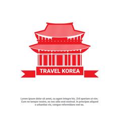 travel to korea landmark south korean palace icon vector image