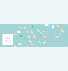 Trendy header design with different hand drawn vector