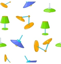 Types of lamps pattern cartoon style vector