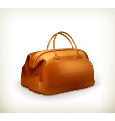 Vintage bag vector image