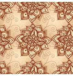 Vintage floral pattern with doodle flowers vector image vector image