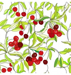 wallpaper with cherry vector image vector image