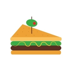 Triangle sandwich with olive icon vector
