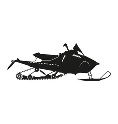 Black silhouette of a snowmobile vector