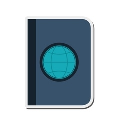 single passport icon vector image