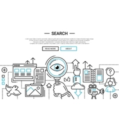 Search - line design website banner temlate vector