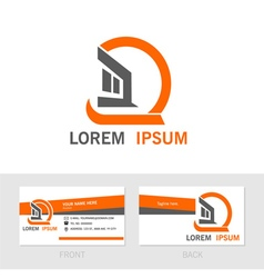 Business contact card back and front vector