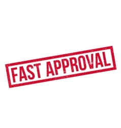 Fast approval rubber stamp vector