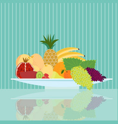 Flat natural food concept vector