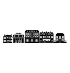 Posh smart row of buildings vector