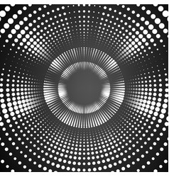 Infinite round tunnel of shining vector