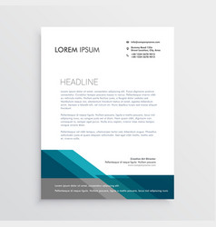 Elegant letterhead design template with blue and vector