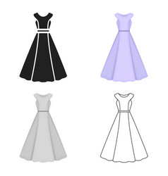 Dress icon of for web and vector