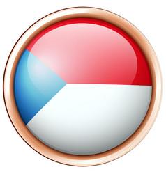 Round badge design for czech republic vector