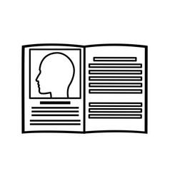 Book medicine health literature line vector