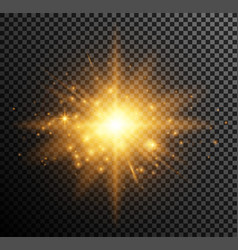 Golden light vector