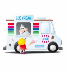 Ice cream man vector