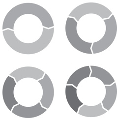 Circle chart set gray vector