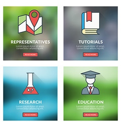 Set of flat design concepts representatives vector