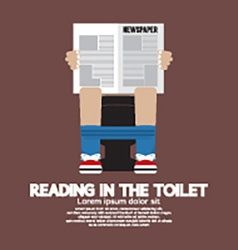 Reading in the toilet vector