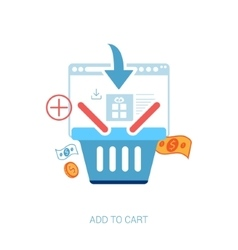 Flat design concept icons for online shopping vector