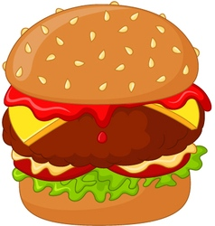Cartoon burger delicious vector