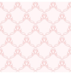 Pink pattern with curve elements vector