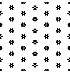 Abstract seamless geometric floral pattern vector