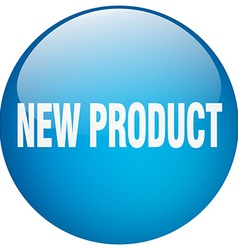 New product blue round gel isolated push button vector