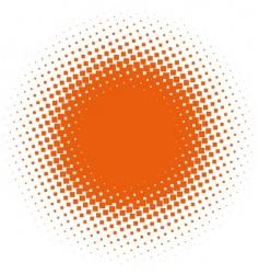 halftone design element vector image