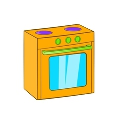 Gas stove icon cartoon style vector