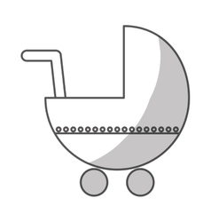 Baby cart icon vector