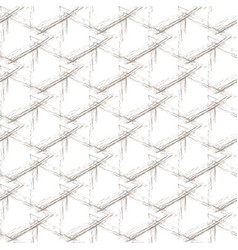 beige grunge grid on a white background vector image vector image