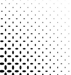 Black and white ellipse pattern background vector image vector image