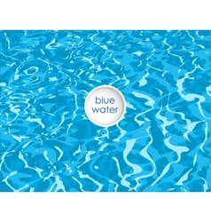 blue background of clean water vector image vector image