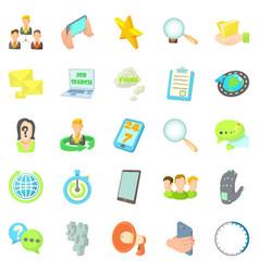Buzz icons set cartoon style vector