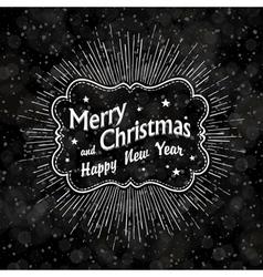 Christmas vintage black background vector