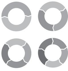 Circle chart set gray vector image vector image