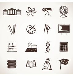 educational icon stock vector image vector image