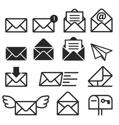 email icons vector image