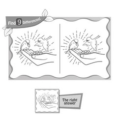 find 9 differences game kindness vector image