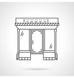 Flat line mall facade icon vector image