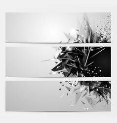 Geometric abstract backgrounds with black color vector