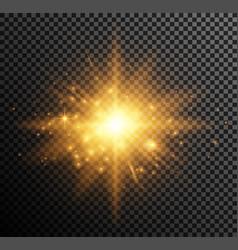 Golden light vector