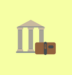 History book and architecture of ancient building vector